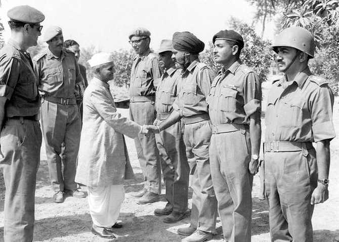 Image result for lal bahadur shastriji in cham sector