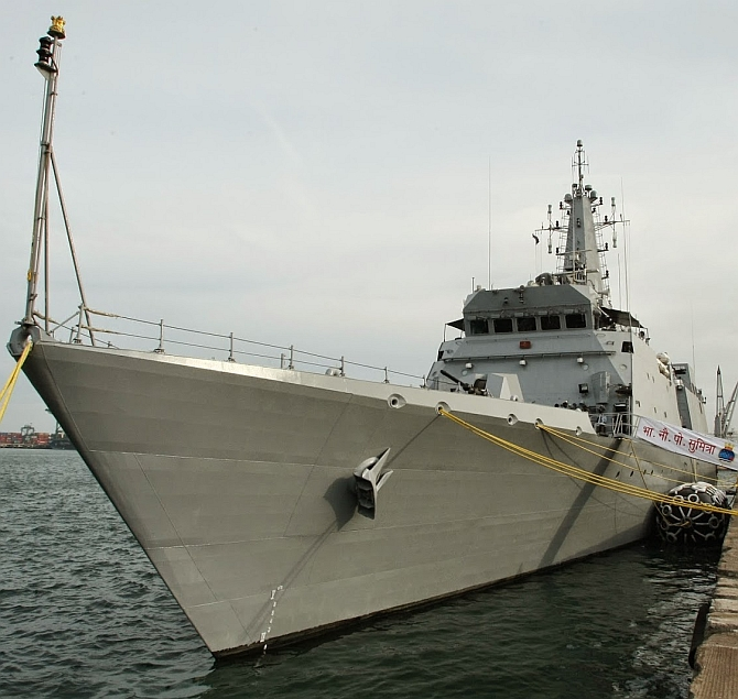 INS Sumitra, the star of Yemen evac op, to host President for Fleet Review