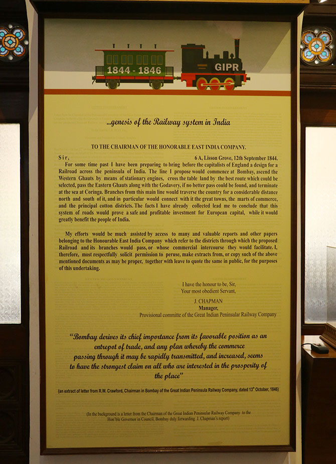 The letter that gave birth to the Indian Railways.