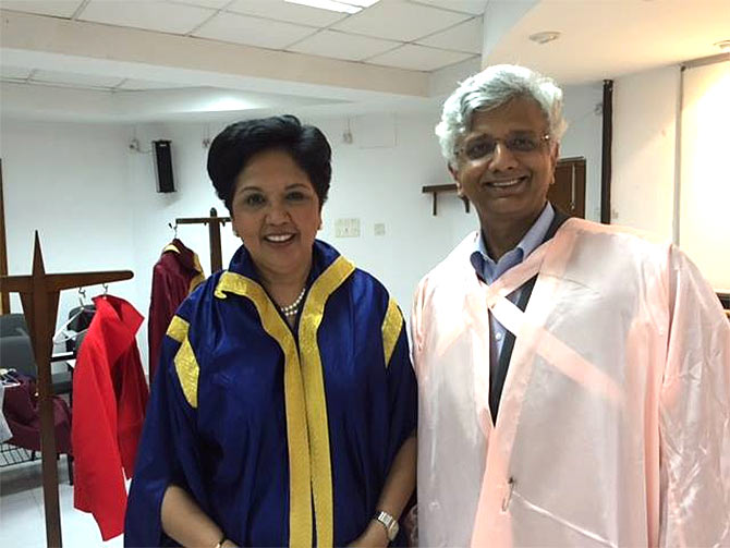 With Indra Nooyi