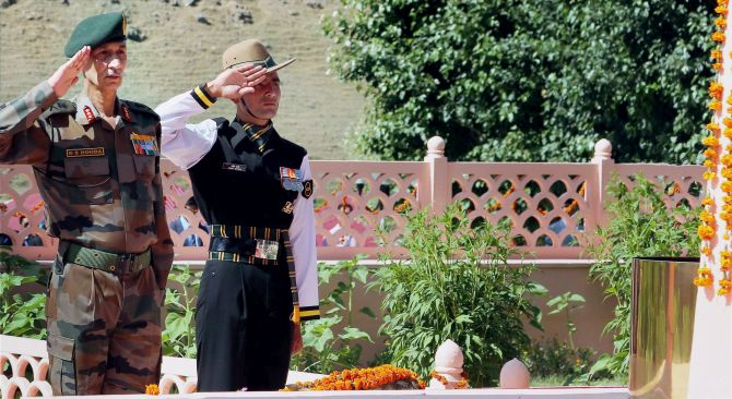 Lt Gen D S Hooda at Kargil War Memorial