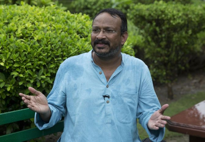 Bezwada Wilson, a campaigner for eradication of manual scavengering, was awarded the Ramon Magsaysay Award in 2016. Photograph: PTI Photo