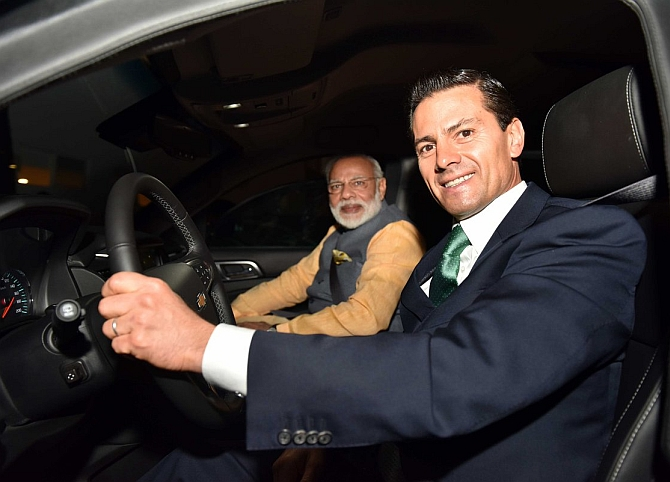 India News - Latest World & Political News - Current News Headlines in India - PIX: Modi bonds with Nieto over bean tacos