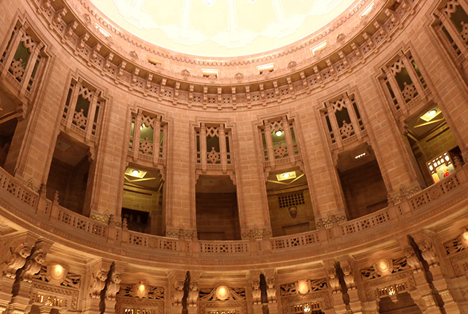 The Interior of the Umaid Bhawan Palace Hotel