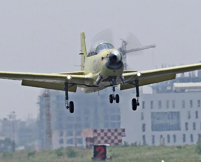 'Made in India' trainer aircraft makes inaugural flight