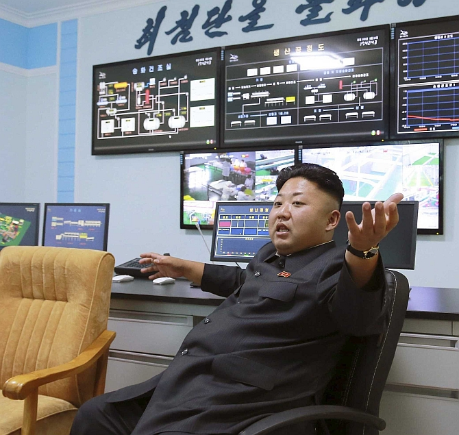 North Korea's leader Kim Jong-un. Photograph: Korean Central News Agency/Reuters