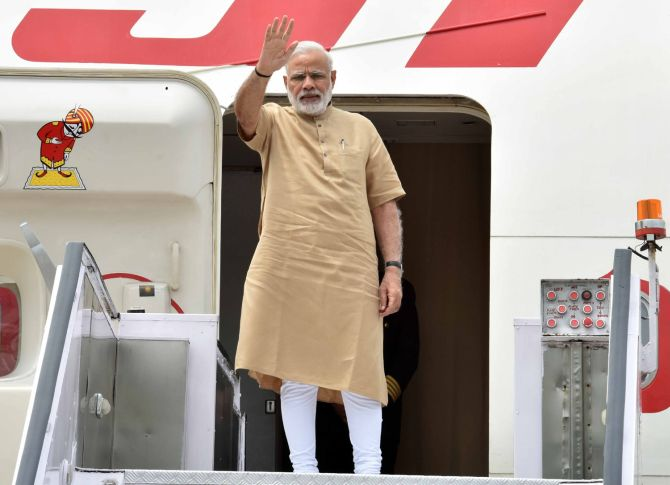 Prime Minister Narendra Modi leaves for Tashkent