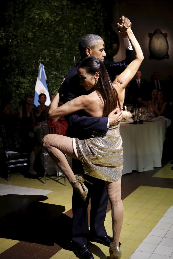 India News - Latest World & Political News - Current News Headlines in India - PHOTOS: Obama dances the Tango in Argentina