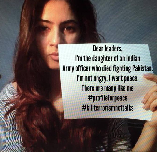 GurMehar Kaur in the video