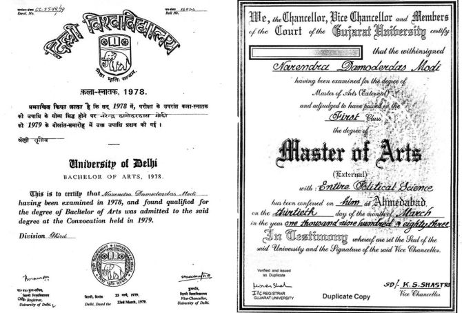 Modi's BA degree 'authentic', clarifies DU registrar - Rediff com