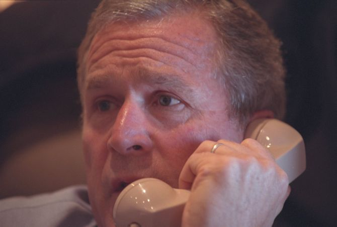 India News - Latest World & Political News - Current News Headlines in India - PIX: Unseen photos reveal George W Bush's response to 9/11 attacks