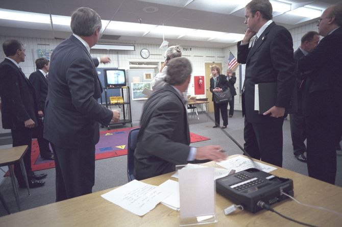 Pix Unseen Photos Reveal George W Bush S Response To 9 11