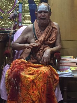 Jayendra Saraswati, the shankaracharya of Kanchi. Photograph: Saisuresh Sivaswamy/Rediff.com