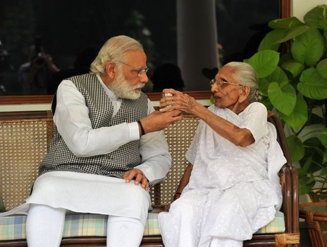 India News - Latest World & Political News - Current News Headlines in India - PHOTOS: When PM Modi's mom visited him at 7 RCR