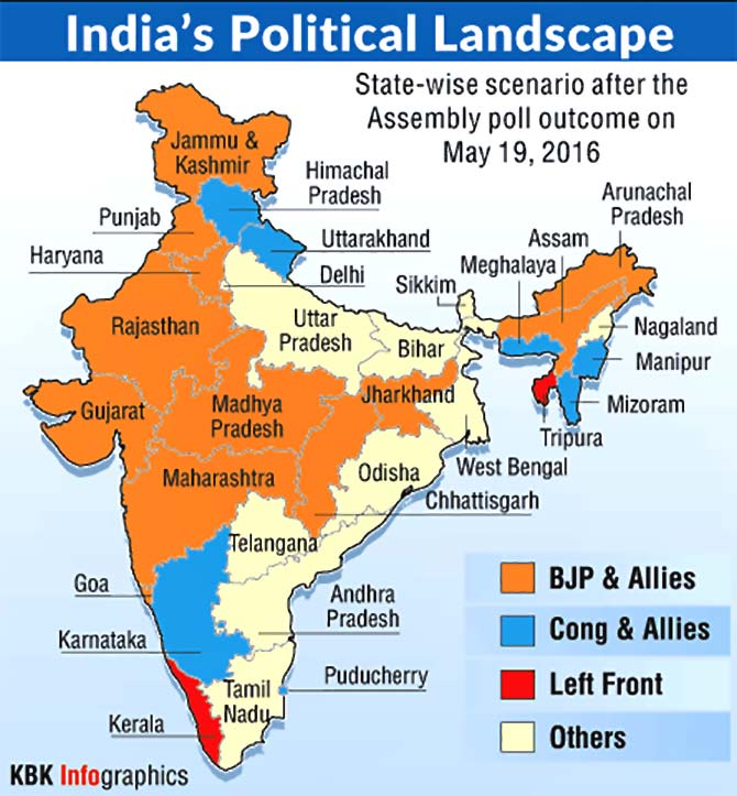 India's Political Landscape, May 19, 2016