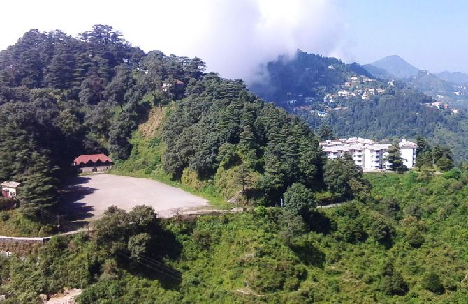 A view of Mussoorie