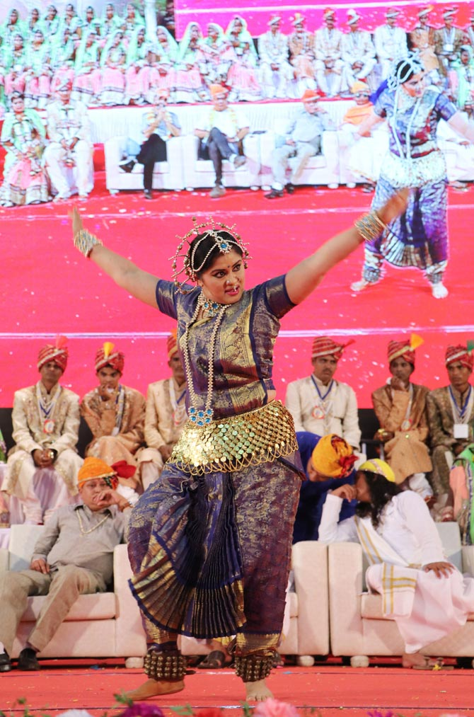 Dancer and actress Sudha Chandran performed at the event.
