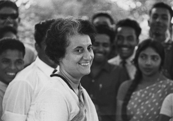 Indira Gandhi. Photograph: Express Newspapers/Getty Images