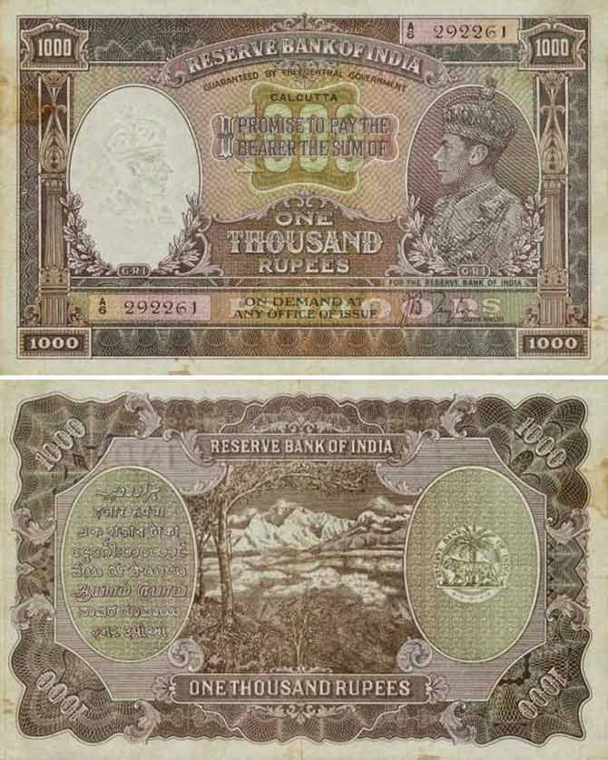 Rs 1,000 note