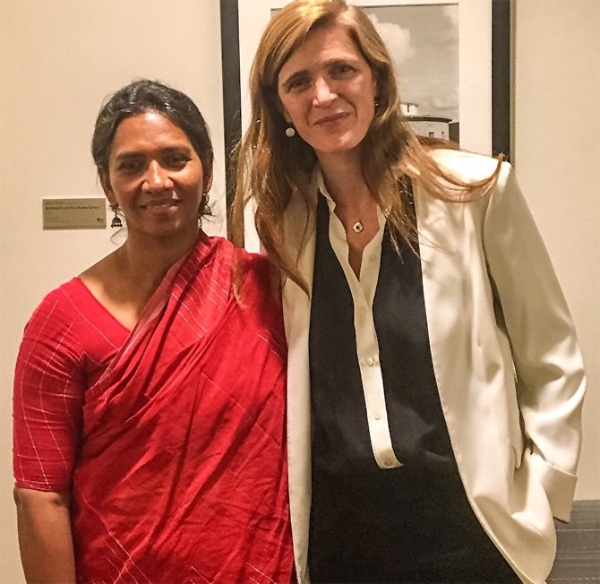 Malini Subramaniam and Samantha Power