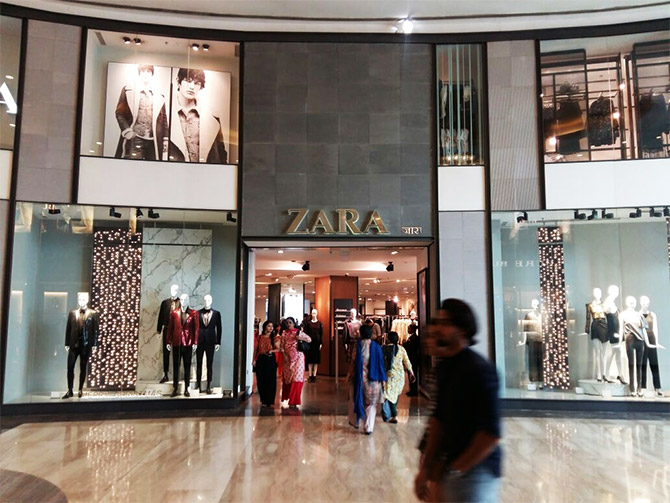 Zara store at palladium mall. Credit: Satish Bodas