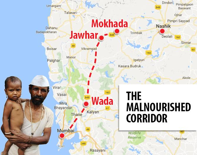 The four talukas of Wada, Mokhada, Jawhar and Vikramgadh are the worst affected tehsils in Palghar. Social activists have begun calling these 'Malnourished corridor' after the district reported 254 malnutrition deaths so far this year.