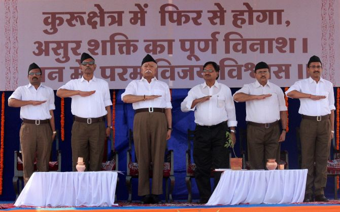 India News - Latest World & Political News - Current News Headlines in India - PHOTOS: RSS workers don new uniform on foundation day