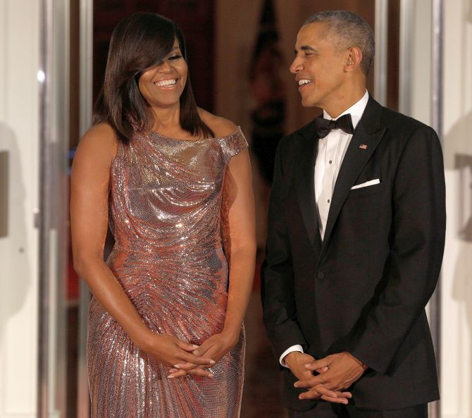 India News - Latest World & Political News - Current News Headlines in India - Keeping the best for last! Michelle sizzles and shines at final state dinner