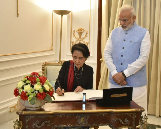 India News - Latest World & Political News - Current News Headlines in India - 'Welcome back to your second home!' Modi to Aung Sung Suu Kyi