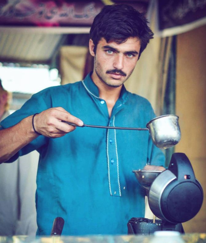 Image result for This blue-eyed Pakistani chaiwalla is giving us major feels!