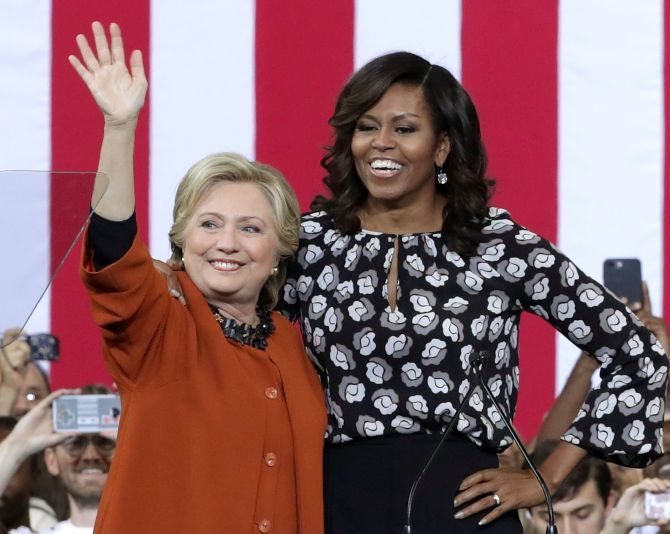 India News - Latest World & Political News - Current News Headlines in India - Michelle Obama campaigns with her 'girl' Hillary Clinton