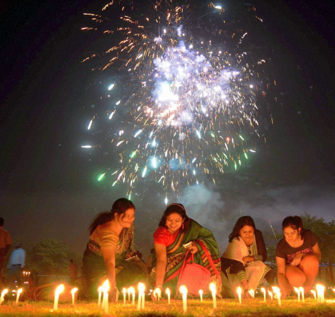the world lights up for diwali rediff com india news