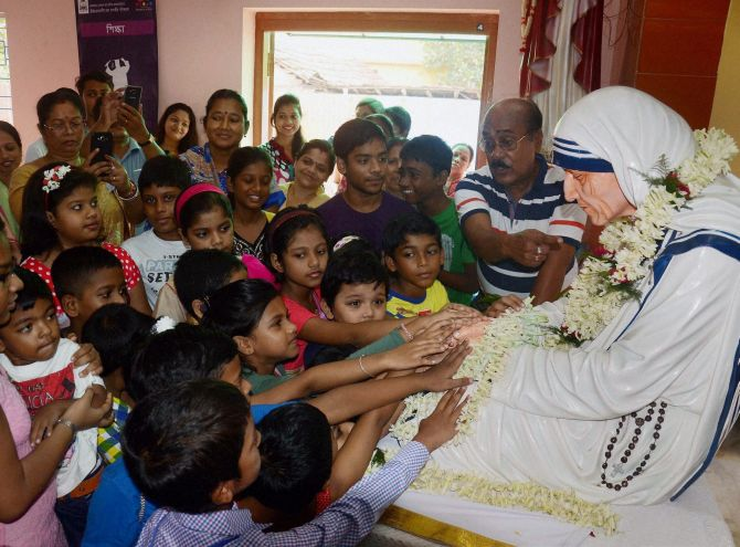 Celebrating Saint Teresa of Calcutta - Rediff.com India News