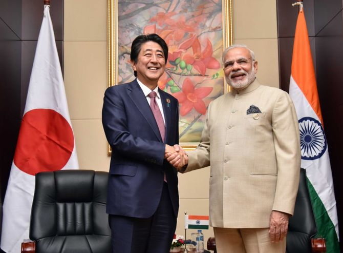 September 2017: Modi and Abe will take part in an 8 km-long roadshow in Ahmedabad on September 13. The road show will begin at Ahmedabad airport and end at Mahatma Gandhi's Sabarmati Ashram.