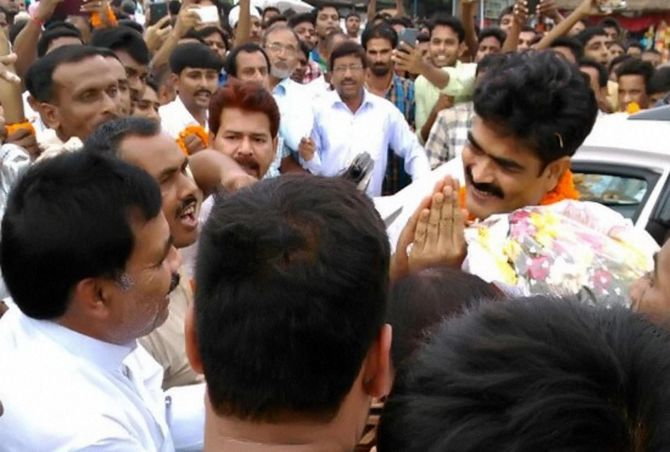 Shahabuddin after his release on bail