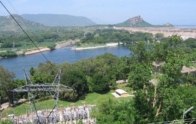 The Mettur dam on the Cauvery river