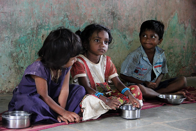 These children had gained weight after coming to the anganwadi. Lahubhuge tells us that even those who come after recuperating from hospitals gain good weight if they come to her regularly.