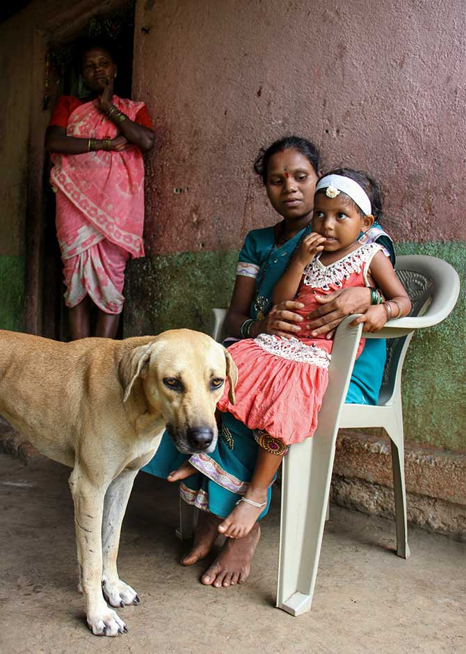 Shalini is a cheerful child. Oblivious of the death in the family, the little girl often played with the pet, who Mamta bitterly said was better-fed, than her deceased daughter. Ask Shalini what's her pet's name is and she says, 'Moti'. Moti, said Mamta, got his food from the litter available around.