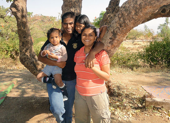 Swati Mahadik with Family