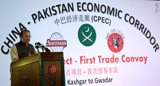Pakistan Prime Minister Nawaz Sharif at the inauguration of the China Pakistan Economic Corridor port in Gwadar, Pakistan, November 13, 2016. Photograph: Caren Firouz