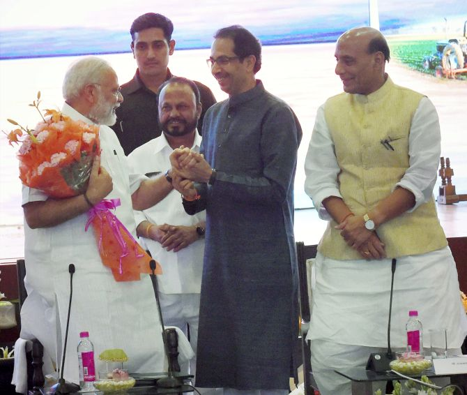 Image result for uddhav at NDA meet