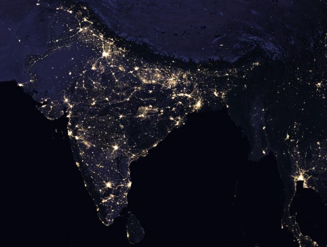 Nasa images reveal how we light up the world at night rediff nasa images reveal how we light up the world at night rediff india news gumiabroncs Images