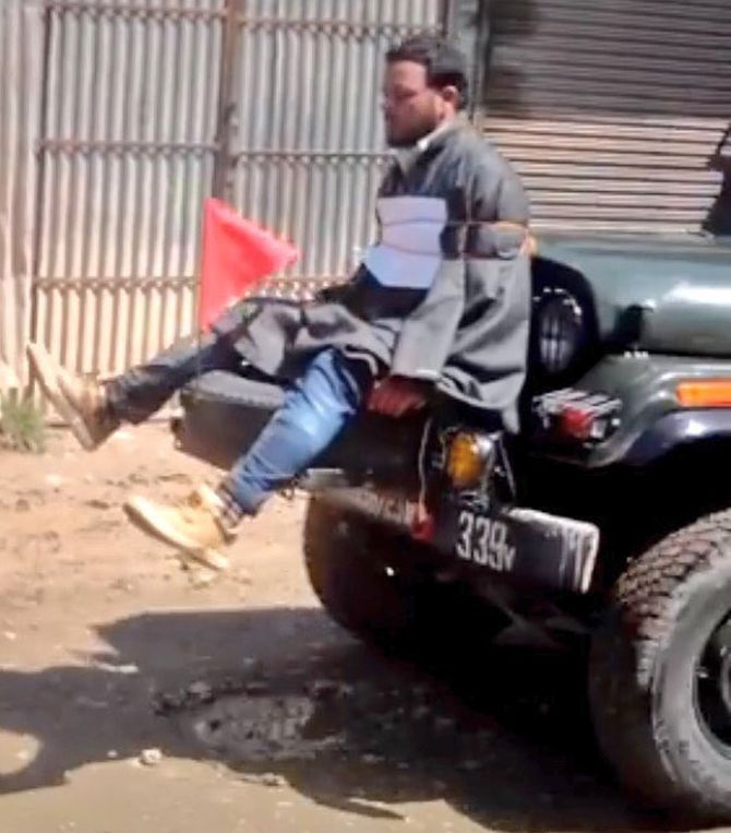 India News - Latest World & Political News - Current News Headlines in India - Is dragging a person for 28 km bravery, asks Kashmiri who was tied to a jeep