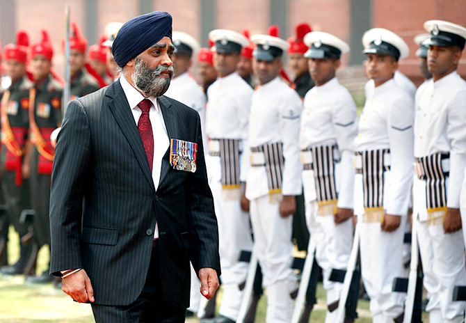 Harjit Sajjan Guard of Honour