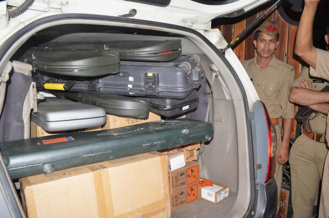 Huge cache of firearms found at the home of national-level shooter Prashant Bishnoi in April