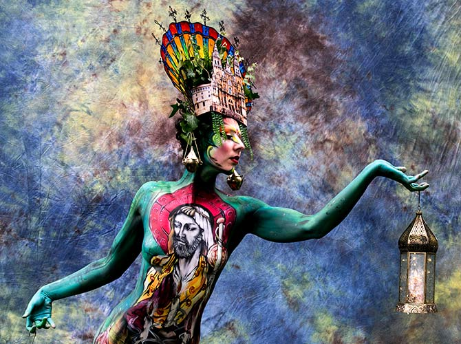 India News - Latest World & Political News - Current News Headlines in India - PHOTOS: Inside the dazzling, weird world of bodypainting