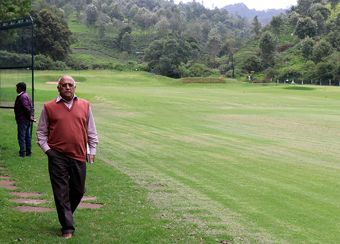 Wing Commander Rakesh Sharma, the first Indian in space, in Wellington, Coonoor