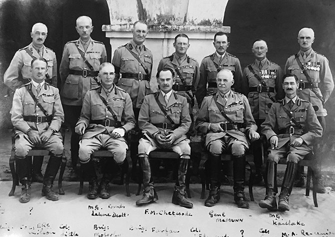 British officers at a reunion in IMA