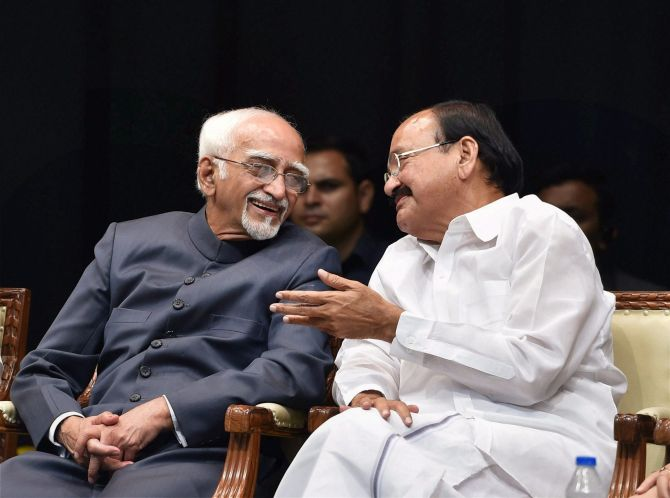 Vice Presidents Hamid Ansari and Venkaiah Naidu