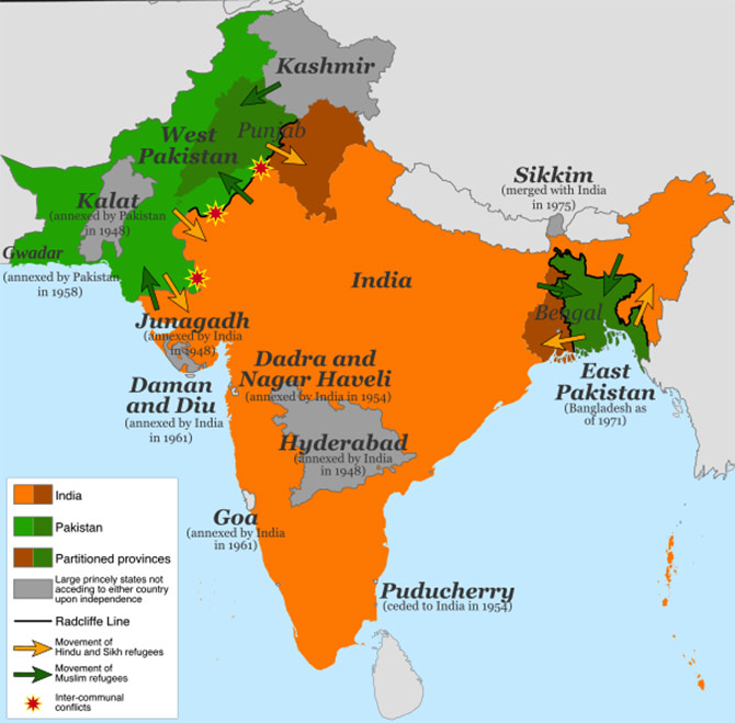 The Radcliffe line: How Pakistan was carved from India